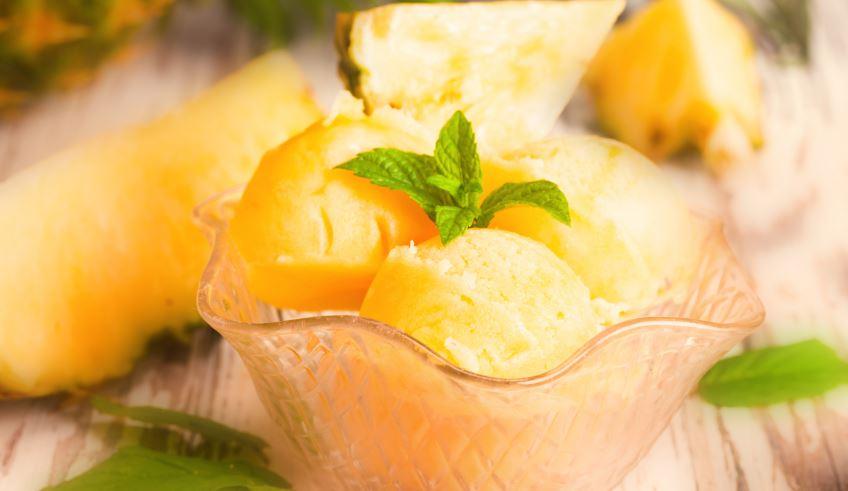 Receita: sorvete caseiro de abacaxi