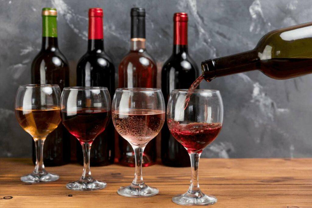 diferença entre vinhos exemplificada