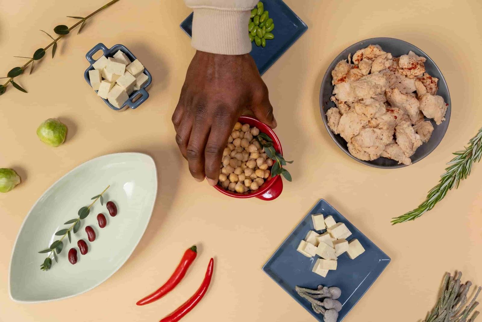 pratos com ingredientes veganos
