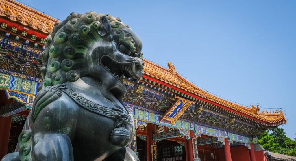 Imagem arquitetônica chinesa