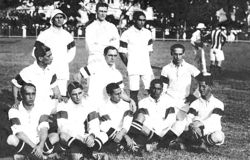 Primeira seleção de futebol no Brasil