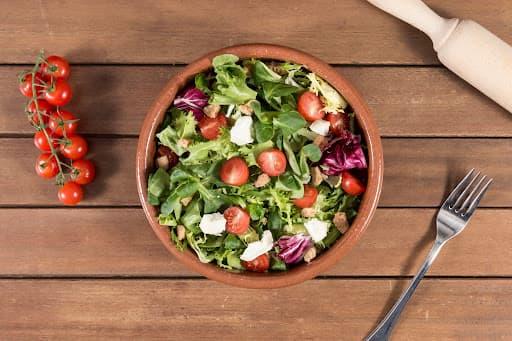 prato de salada decorada